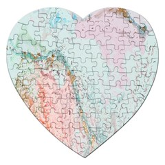 Geode Crystal Pink Blue Jigsaw Puzzle (Heart)