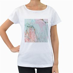 Geode Crystal Pink Blue Women s Loose-Fit T-Shirt (White)