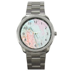 Geode Crystal Pink Blue Sport Metal Watch