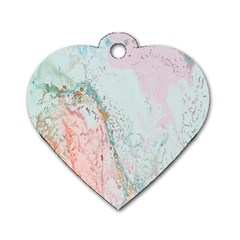 Geode Crystal Pink Blue Dog Tag Heart (One Side)