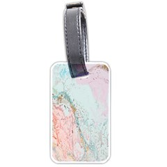 Geode Crystal Pink Blue Luggage Tags (One Side)