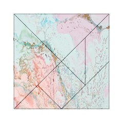 Geode Crystal Pink Blue Acrylic Tangram Puzzle (6  x 6 )