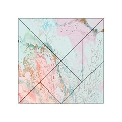 Geode Crystal Pink Blue Acrylic Tangram Puzzle (4  x 4 )