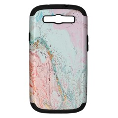 Geode Crystal Pink Blue Samsung Galaxy S III Hardshell Case (PC+Silicone)