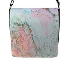 Geode Crystal Pink Blue Flap Messenger Bag (L)