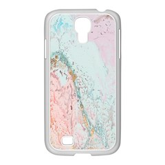 Geode Crystal Pink Blue Samsung GALAXY S4 I9500/ I9505 Case (White)