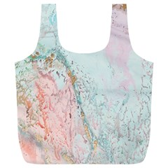 Geode Crystal Pink Blue Full Print Recycle Bags (L)