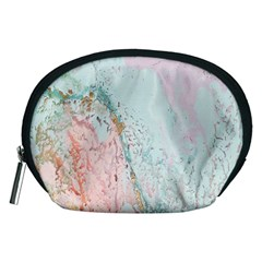 Geode Crystal Pink Blue Accessory Pouches (Medium)