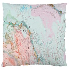 Geode Crystal Pink Blue Standard Flano Cushion Case (One Side)