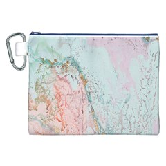 Geode Crystal Pink Blue Canvas Cosmetic Bag (XXL)
