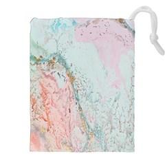 Geode Crystal Pink Blue Drawstring Pouches (XXL)