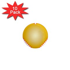 Heart Rhythm Gold Red 1  Mini Magnet (10 pack)
