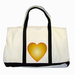 Heart Rhythm Gold Red Two Tone Tote Bag