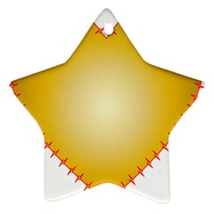 Heart Rhythm Gold Red Star Ornament (Two Sides)