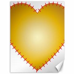 Heart Rhythm Gold Red Canvas 36  x 48