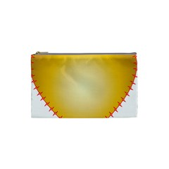 Heart Rhythm Gold Red Cosmetic Bag (Small)