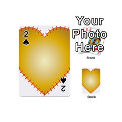 Heart Rhythm Gold Red Playing Cards 54 (mini)