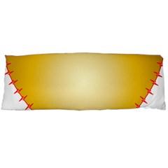 Heart Rhythm Gold Red Body Pillow Case (Dakimakura)