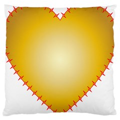 Heart Rhythm Gold Red Large Cushion Case (One Side)