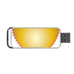 Heart Rhythm Gold Red Portable USB Flash (One Side)