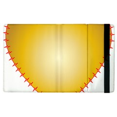 Heart Rhythm Gold Red Apple iPad 2 Flip Case