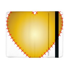 Heart Rhythm Gold Red Samsung Galaxy Tab Pro 8 4  Flip Case