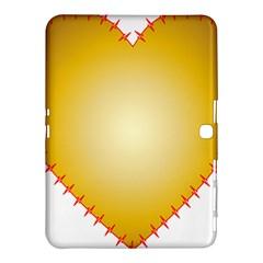 Heart Rhythm Gold Red Samsung Galaxy Tab 4 (10.1 ) Hardshell Case