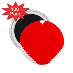 Heart Rhythm Inner Red 2.25  Magnets (100 pack)