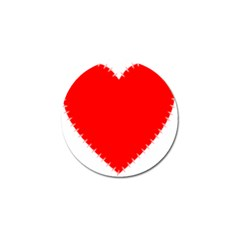 Heart Rhythm Inner Red Golf Ball Marker