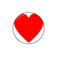 Heart Rhythm Inner Red Hat Clip Ball Marker (4 pack)