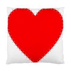 Heart Rhythm Inner Red Standard Cushion Case (Two Sides)