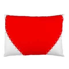 Heart Rhythm Inner Red Pillow Case