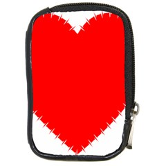 Heart Rhythm Inner Red Compact Camera Cases
