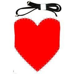 Heart Rhythm Inner Red Shoulder Sling Bags