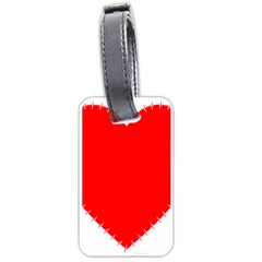 Heart Rhythm Inner Red Luggage Tags (Two Sides)