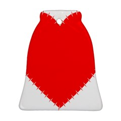 Heart Rhythm Inner Red Bell Ornament (Two Sides)