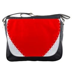 Heart Rhythm Inner Red Messenger Bags