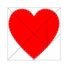 Heart Rhythm Inner Red Acrylic Tangram Puzzle (6  x 6 )