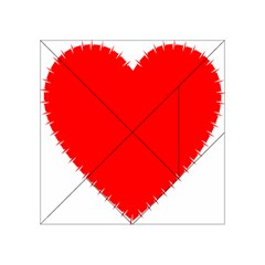 Heart Rhythm Inner Red Acrylic Tangram Puzzle (4  x 4 )