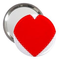 Heart Rhythm Inner Red 3  Handbag Mirrors