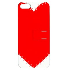 Heart Rhythm Inner Red Apple iPhone 5 Hardshell Case with Stand