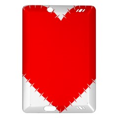 Heart Rhythm Inner Red Amazon Kindle Fire HD (2013) Hardshell Case