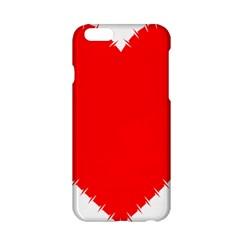 Heart Rhythm Inner Red Apple iPhone 6/6S Hardshell Case