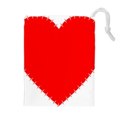Heart Rhythm Inner Red Drawstring Pouches (Extra Large)