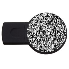 Deskjet Ink Splatter Black Spot USB Flash Drive Round (2 GB)