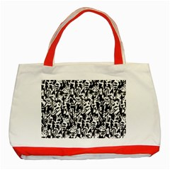 Deskjet Ink Splatter Black Spot Classic Tote Bag (Red)