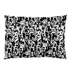 Deskjet Ink Splatter Black Spot Pillow Case