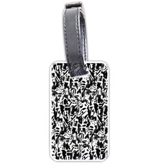 Deskjet Ink Splatter Black Spot Luggage Tags (One Side)