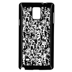 Deskjet Ink Splatter Black Spot Samsung Galaxy Note 4 Case (Black)