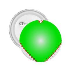 Heart Rhythm Inner Green Red 2.25  Buttons